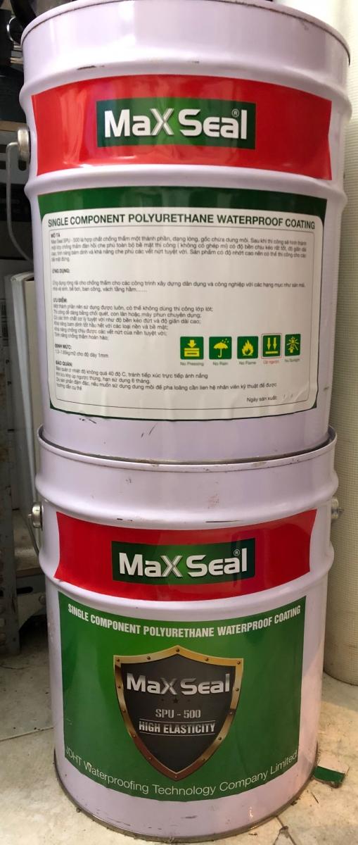 Max Seal SPU - 500 - CHỐNG THẤM GỐC POLYURETHANE, Max Seal SPU - 500 - CHoNG THaM GoC POLYURETHANE