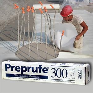Preprufe® 300R là Màng chống thấm HDPE bám dính hoàn toàn với bê tông, Preprufe® 300R la Mang chong tham HDPE bam dinh hoan toan voi be tOng