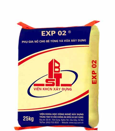 EXP 02 - Phụ gia nở cho bê tông và vữa xây dựng, EXP 02 - Phu gia no cho be tOng va vua xay dung