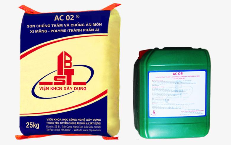 AC 02 - Sơn chống thấm và chống ăn mòn xi măng – polyme, AC 02 - Son chong tham va chong an mon xi mang – polyme