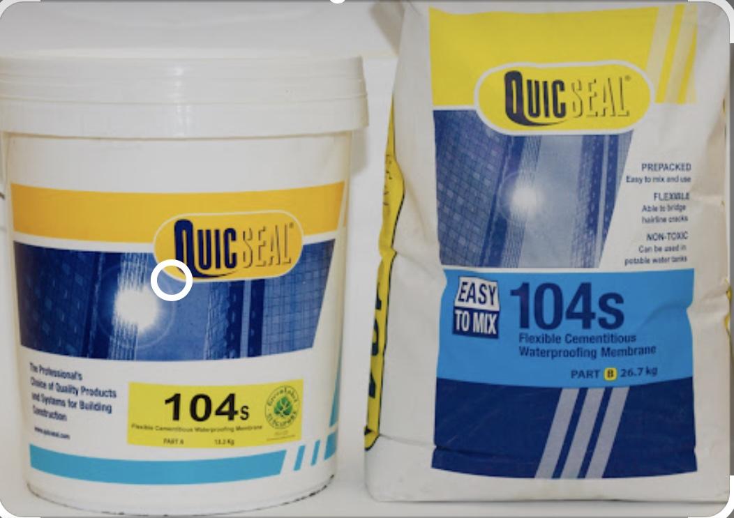 QUICSEAL 104S - Màng chống thấm gốc xi măng Dẻo, QUICSEAL 104S - Mang chong tham goc xi mang Deo