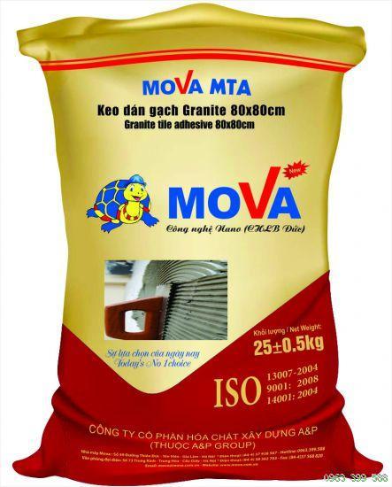 Mova  MTA là loại vữa keo trộn sẵn, có độ bám dính tốt, Mova  MTA la loai vua keo tron san, co Do bam dinh tot