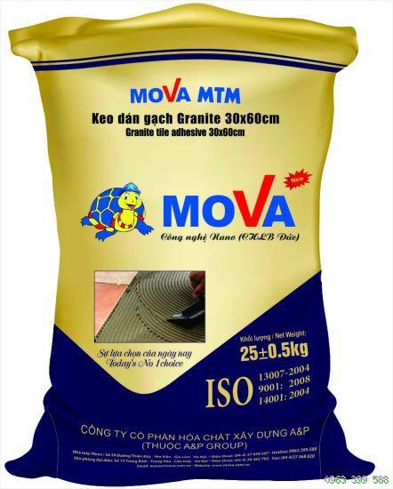 Mova MTM - keo dán gạch trộn sẵn có độ dẻo cao, cường độ bám dính tốt, Mova MTM - keo dan gach tron san co Do deo cao, cuong Do bam dinh tot