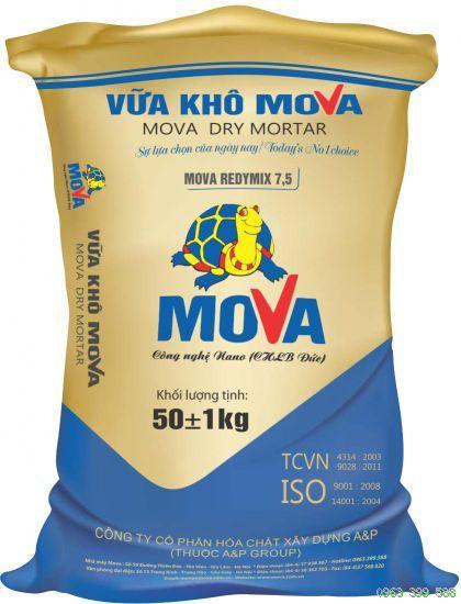 Mova Redymix 7,5 là loại vữa trát cao cấp mác 75#, Mova Redymix 7,5 la loai vua trat cao cap mac 75#