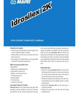 Idosilex 2K - vữa chống thấm hai thành phần gốc xi măng, Idosilex 2K - vua chong tham hai thanh phan goc xi mang