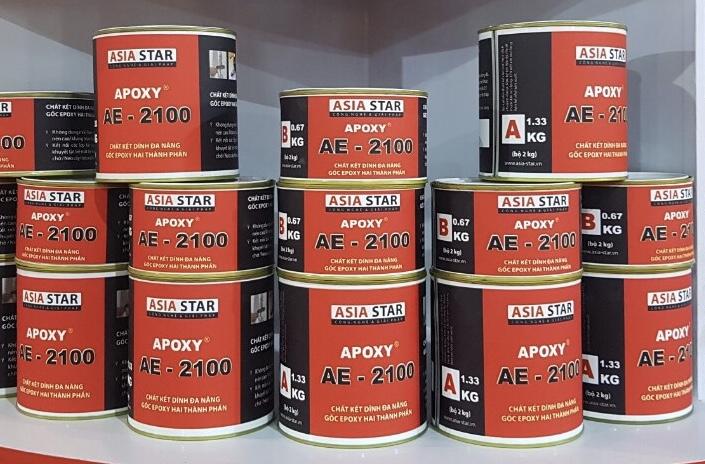Keo Epoxy AE- 2100 (30Kg/ bộ) là keo Epoxy hai thành phần, Keo Epoxy AE- 2100 (30Kg/ bo) la keo Epoxy hai thanh phan