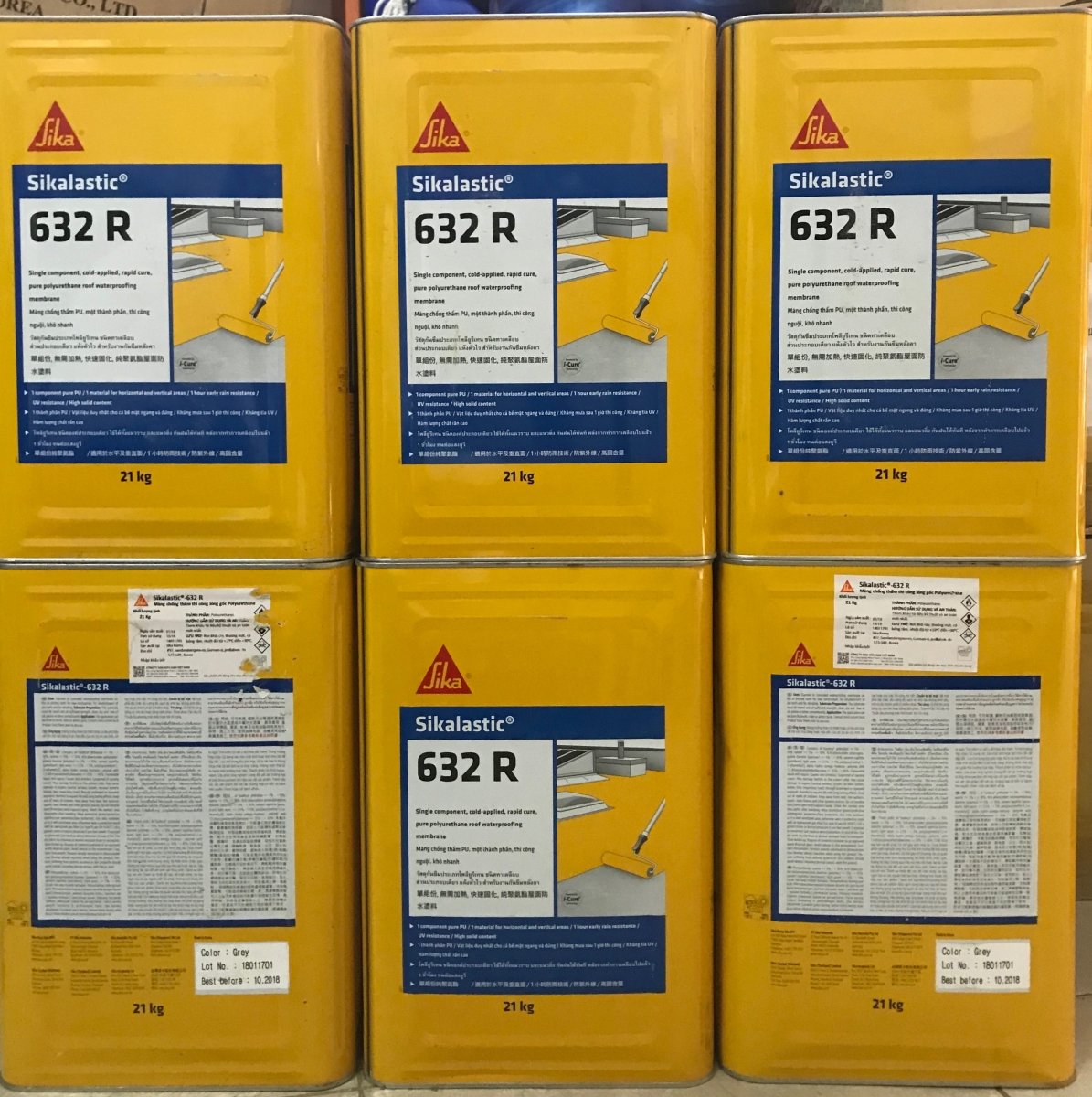 Sikalastic®-632R la Màng chống thấm dạng lỏng gốc Polyurethane , Sikalastic®-632R la Mang chong tham dang long goc Polyurethane
