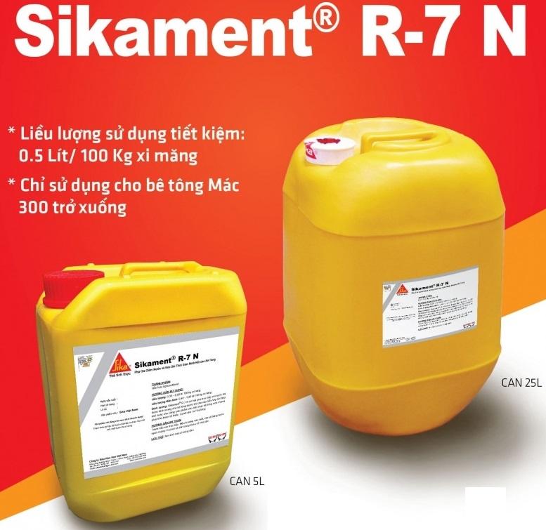Sikament R-7N  - PHỤ GIA HỖ TRỢ THÁO VÁN KHUÔN 7 NGÀY, Sikament R-7N  - PHu GIA Ho TRo THaO VaN KHUON 7 NGaY