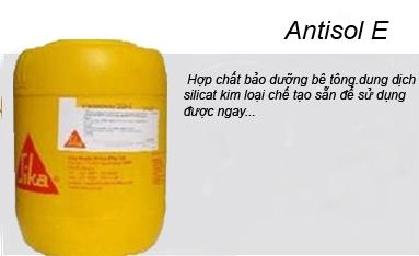 Antisol E - Dung dịch silicat kim loại chế tạo sẵn, Antisol E - Dung dich silicat kim loai che tao san