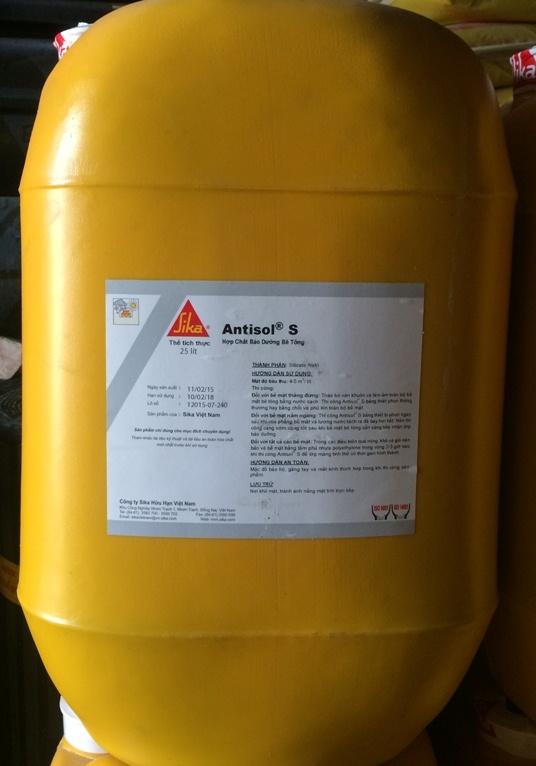 Antisol S - Hợp chất bảo dưỡng bê tông, Antisol S - Hop chat bao duong be tOng