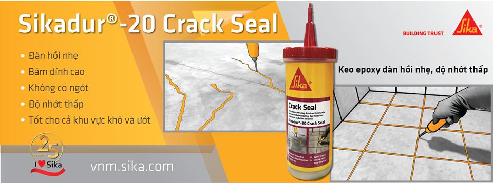 Sikadur 20 Crack Seal - Keo xử lý vệt nứt gốc epoxy 2 thành phần, Sikadur 20 Crack Seal - Keo xu ly vet nut goc epoxy 2 thanh phan