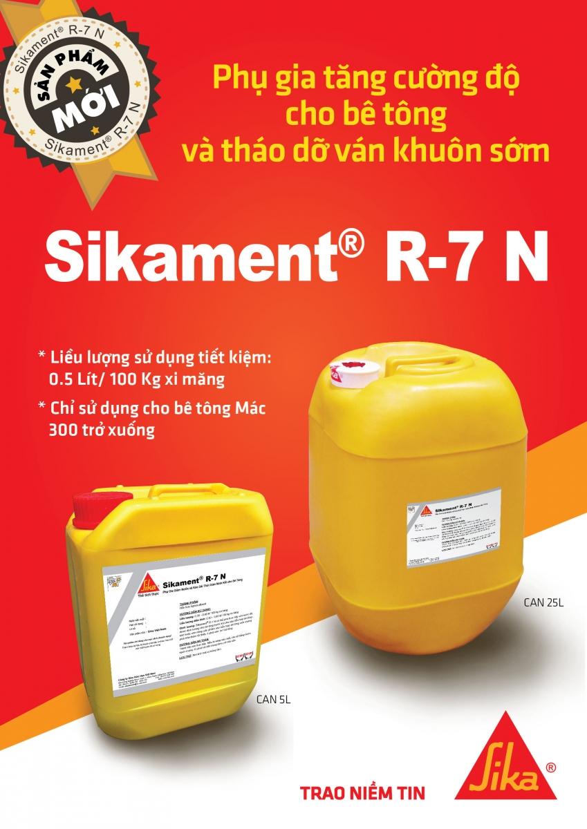 Sikament® R-7 N - Phụ gia giảm nước và kéo dài thời gian ninh kết, Sikament® R-7 N - Phu gia giam nuoc va keo dai thoi gian ninh ket