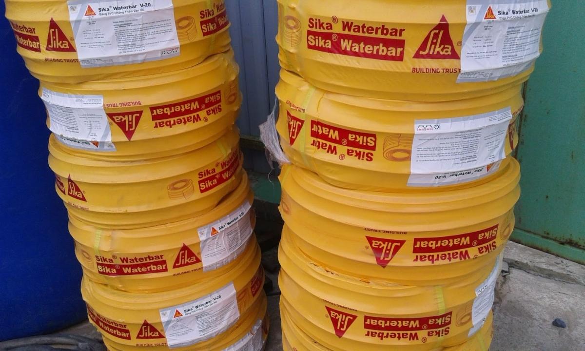 Sika Waterbar V-25 | Băng PVC chống thấm đàn hồi | bang can nuoc dan hoi | bang can nuoc