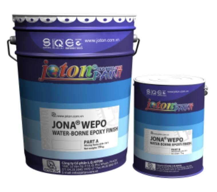 Sơn JONA WEPO - Sơn phủ hệ Epoxy gốc nước gồm 2 thành phần, Son JONA WEPO - Son phu he Epoxy goc nuoc gom 2 thanh phan