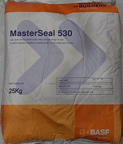 MASTERSEAL 530 - Lớp quét chống thấm vừa thẩm thấu cho bê tông và vữa, MASTERSEAL 530 - Lop quet chong tham vua tham thau cho be tOng va vua