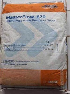 MasterFlow 870 - Vữa không co ngót cường độ cao, MasterFlow 870 - Vua khOng co ngot cuong Do cao