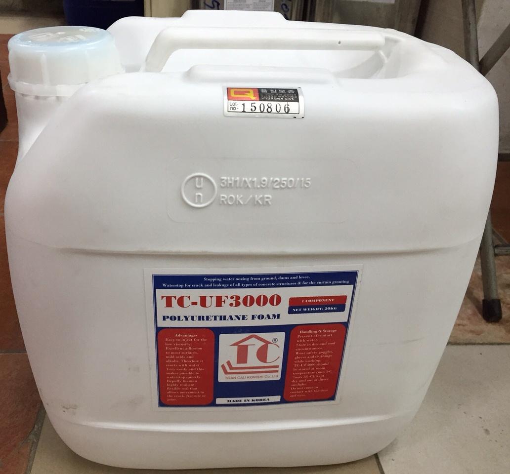 TC-UF 3000 (10kg) - keo trương nở gốc polyurethane, TC-UF 3000 (10kg) - keo truong no goc polyurethane