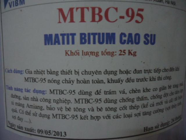 Matit chèn khe MTBC-95 - Matit Bitum cao su , Matit chen khe MTBC-95 - Matit Bitum cao su